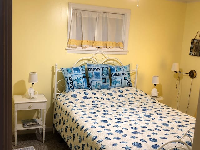 Recently painted , new queen size bed 2nd bedroom