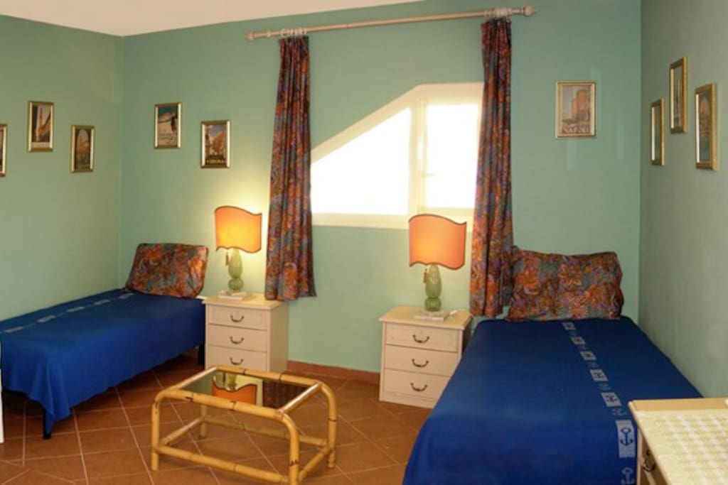 2nd bedroom-Beds are 100 cm wide.