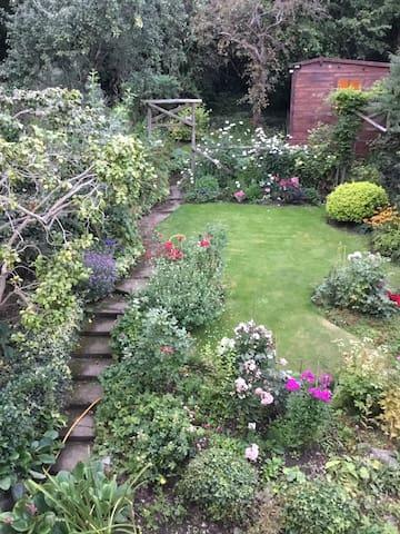 Cosy garden facing room in leafy London suburb
