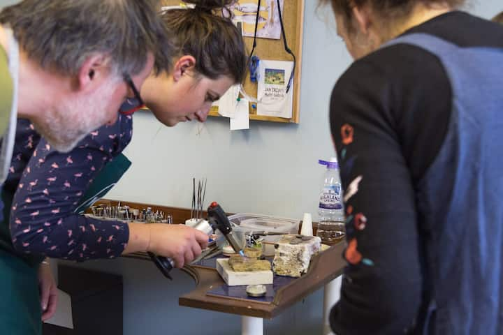 Soldering - using jewellery torch