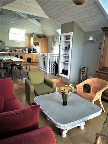 Chambre lumineuse, accès Cuisine détente, terrasse