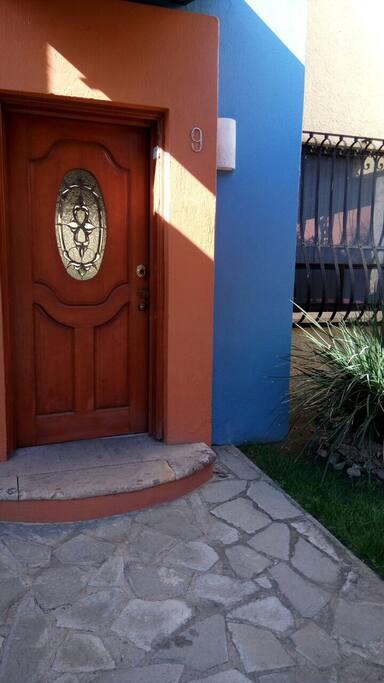 Es la entrada ya a la casa