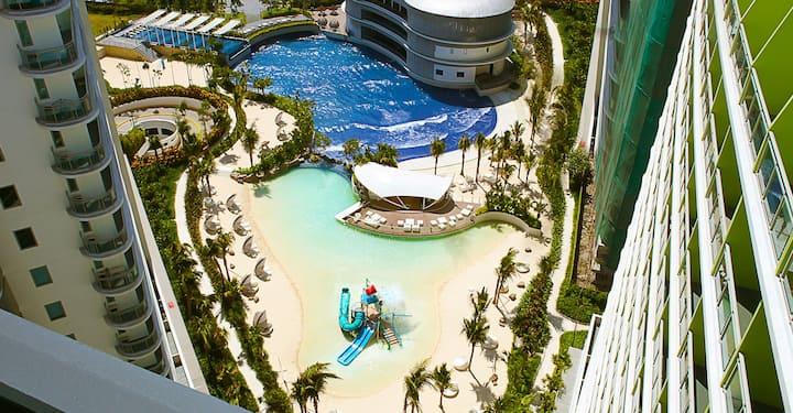 Beachfront Condo at Azure Paris Hilton Beach Club