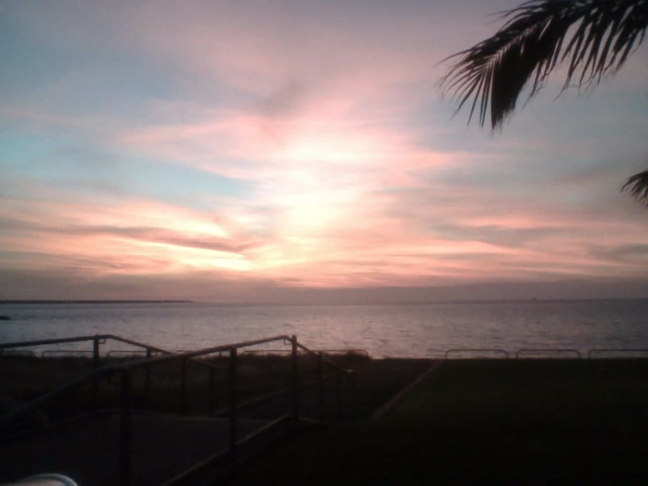 Sunset at cullen bay - 3 minutes walk