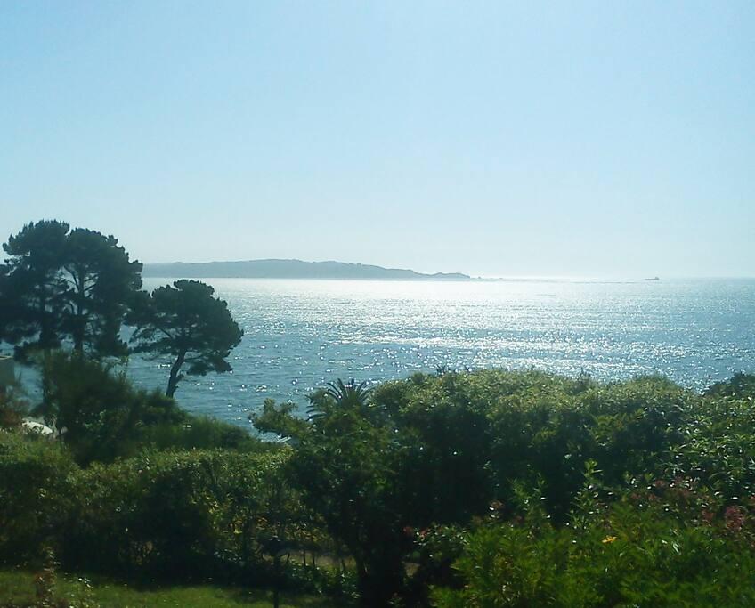 Vista desde la casa hacia el puerto de Talcahuano y la Isla Quiriquina