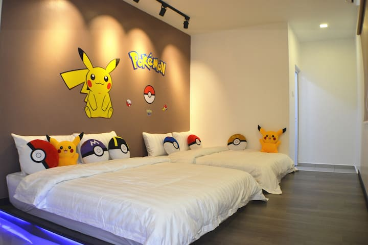 4th Bedroom (Pokemon theme) - 2 Queen beds Tatami (4 pax)