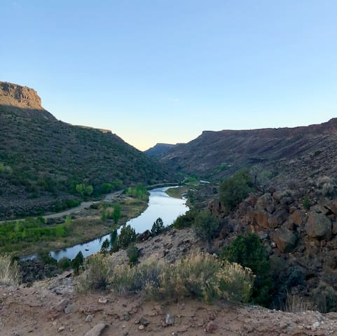 "The ""Rio Grande"" River extends itself through Española, along both East and West banks and runs through two nations and multiple Pueblos, this is a sight to see."