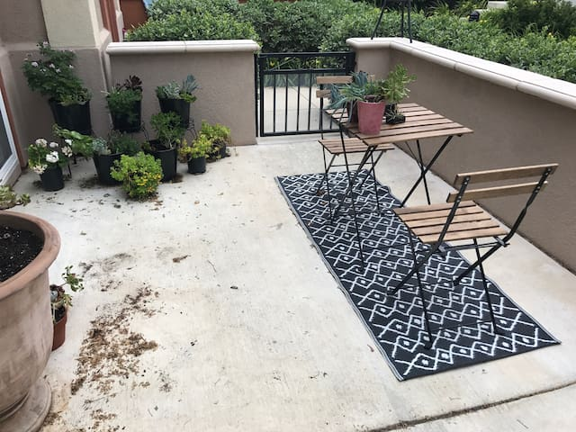Private patio entry! Bedroom with attached bath!