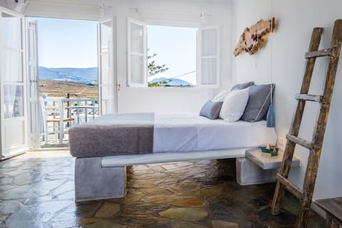 Cycladic apartment with amazing sea&sunset view