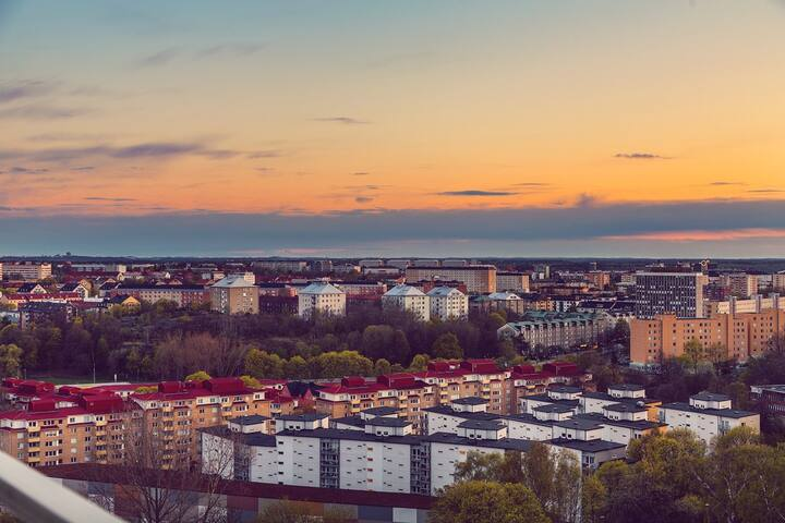 Room near city center with a view over Stockholm