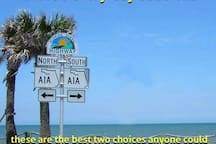 This is A1A and the ocean only half a mile from my front door