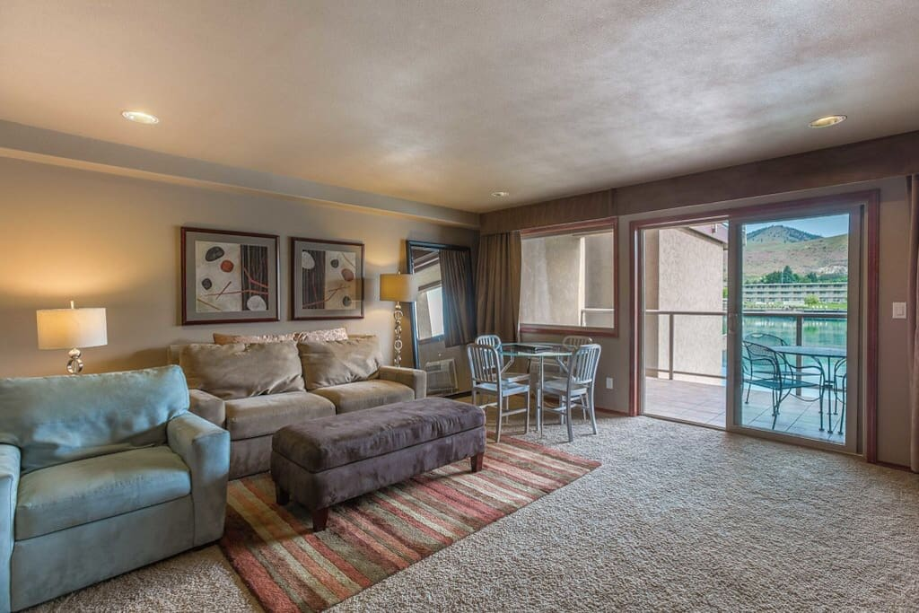 Living room with Murphy bed and hide-a-bed