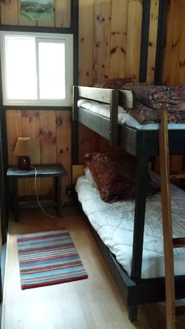 Bedroom with single bunks