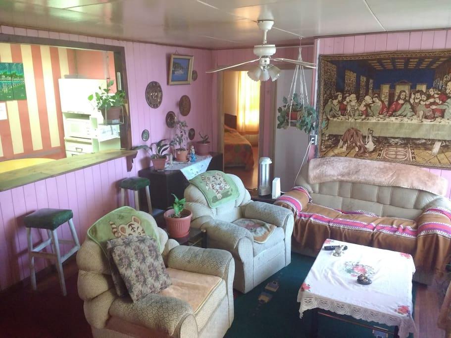 Ambiente familiar especial para descansar con tranquilidad.
