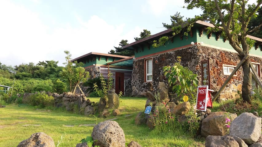 Heart Flower House at Hyeopjae Beach in Jeju
