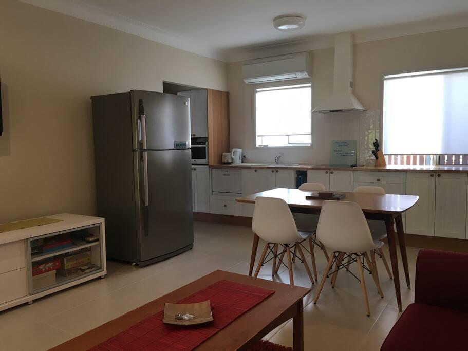 Modern, open-plan living space