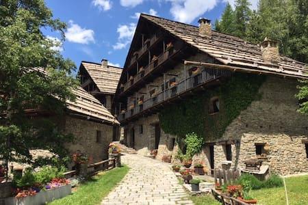 Romantico appartamento in baita montana del '700 - Grangesises - Huoneisto