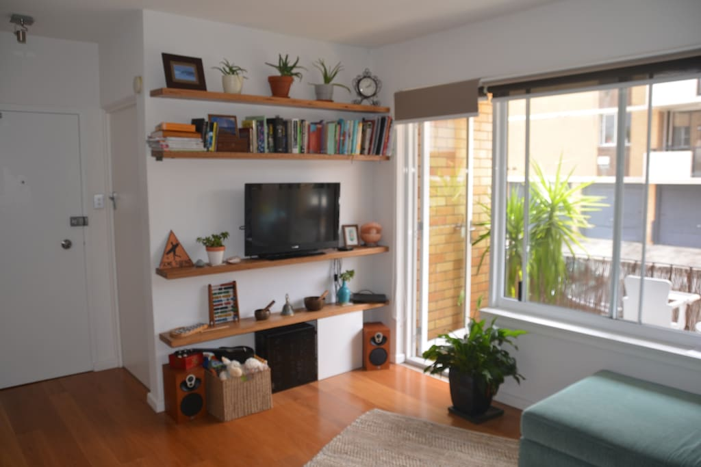 Living space flows to open verandah