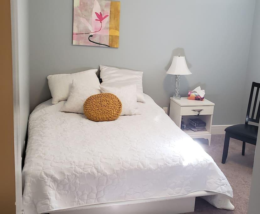 Queen in guest room
