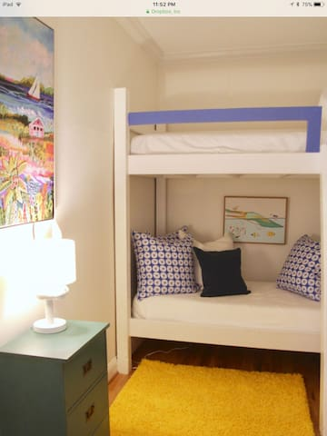 Bunk beds with teepee