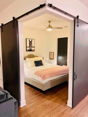 Large and spacious master bedroom with King bed and large walk-in closet