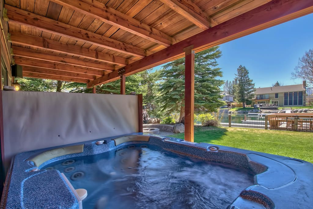 Relax in the hot tub after a day in the lake or on the slopes
