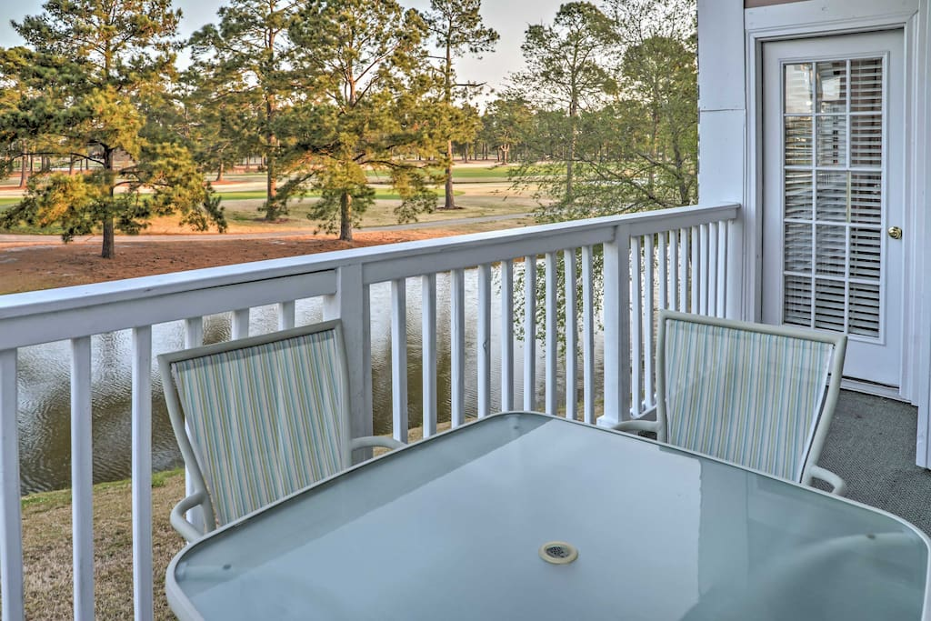 Enjoy beautiful golf course and water views from the balcony!