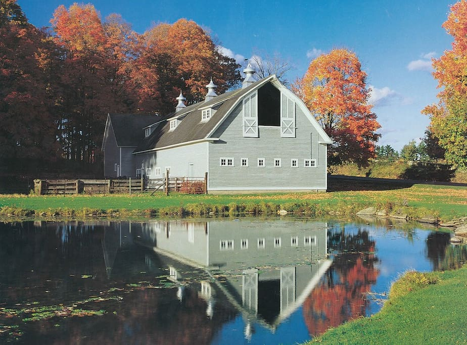 Enjoy staying at our quintessential New England Farm for a weekend or a week!  Beautiful views of our 19th century barns, Hereford cattle, pastures, pond and apple orchard set the scene for a relaxing stay in the Berkshires, any time of year.