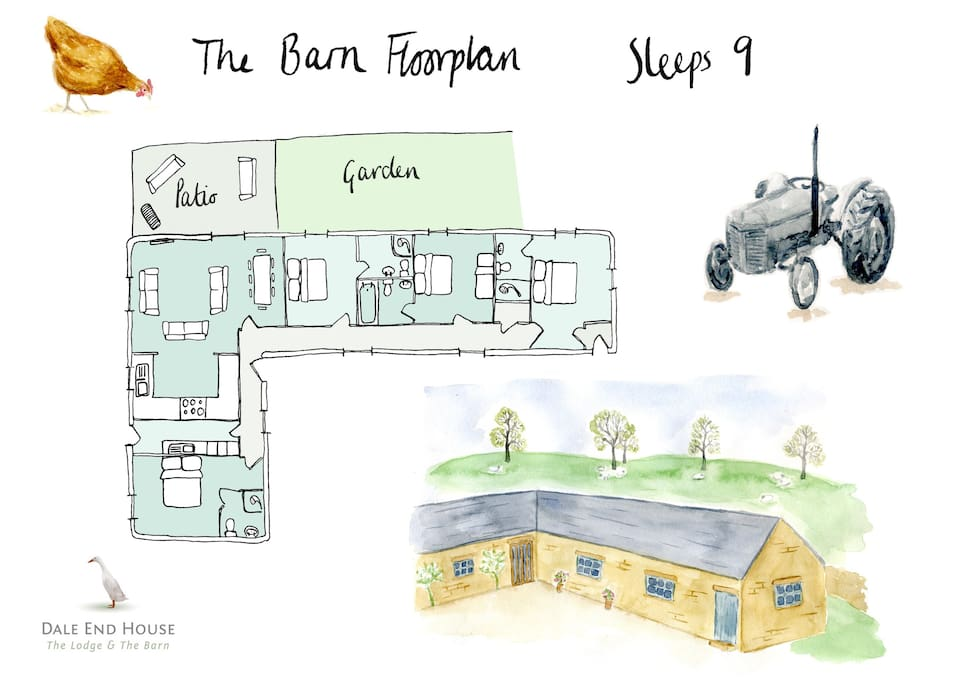 General layout of The Barn
