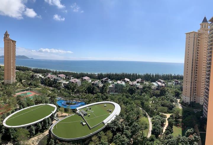 清水湾小海洋之心海景通透三居公寓
