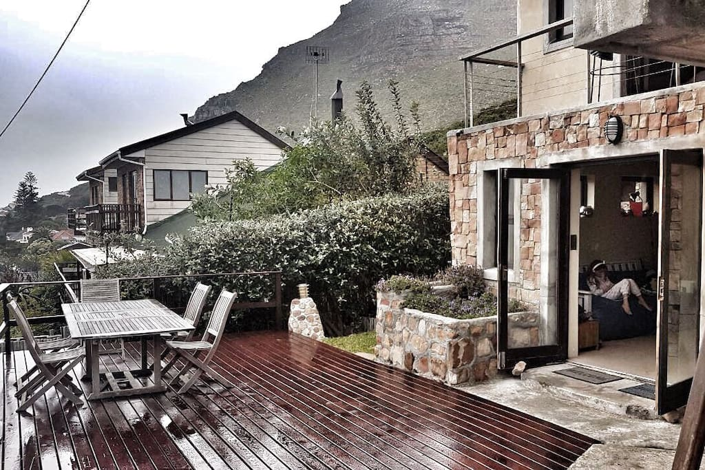 Deck with views overlooking Muizenberg