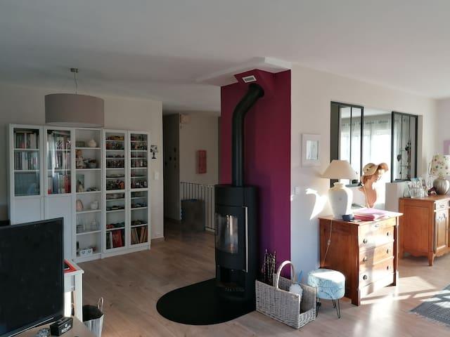 Chambre, salon, Calme et confort, cosy room