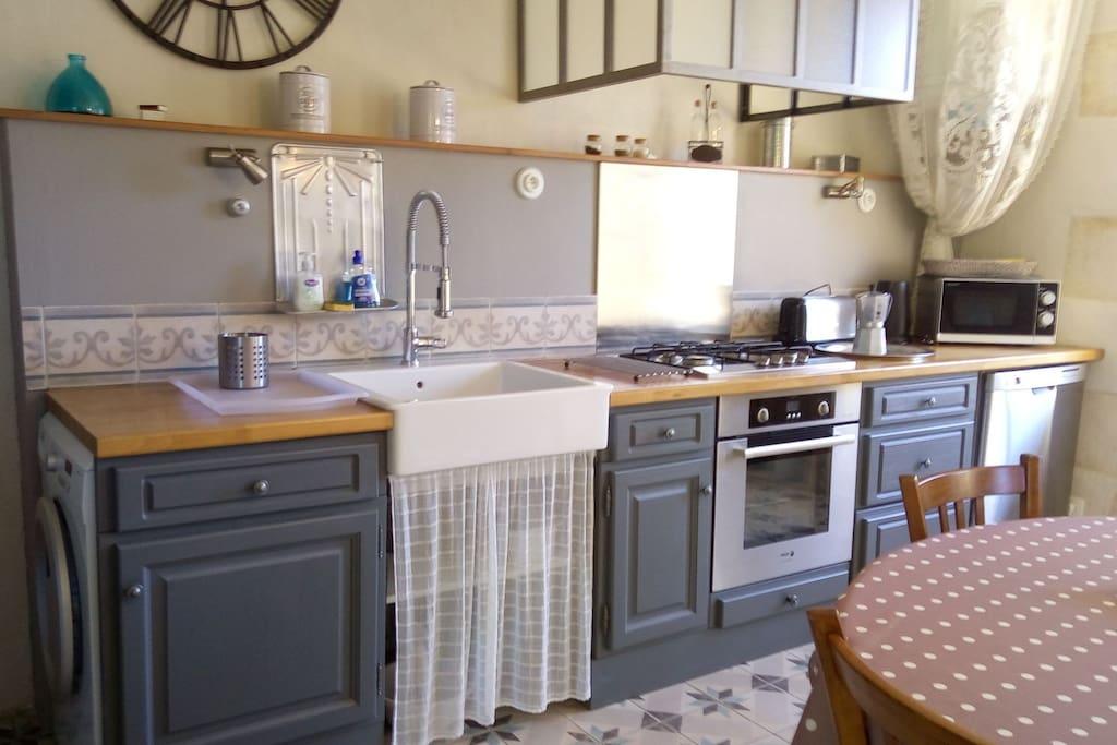 Votre espace cuisine entièrement équipé pour votre sejour
