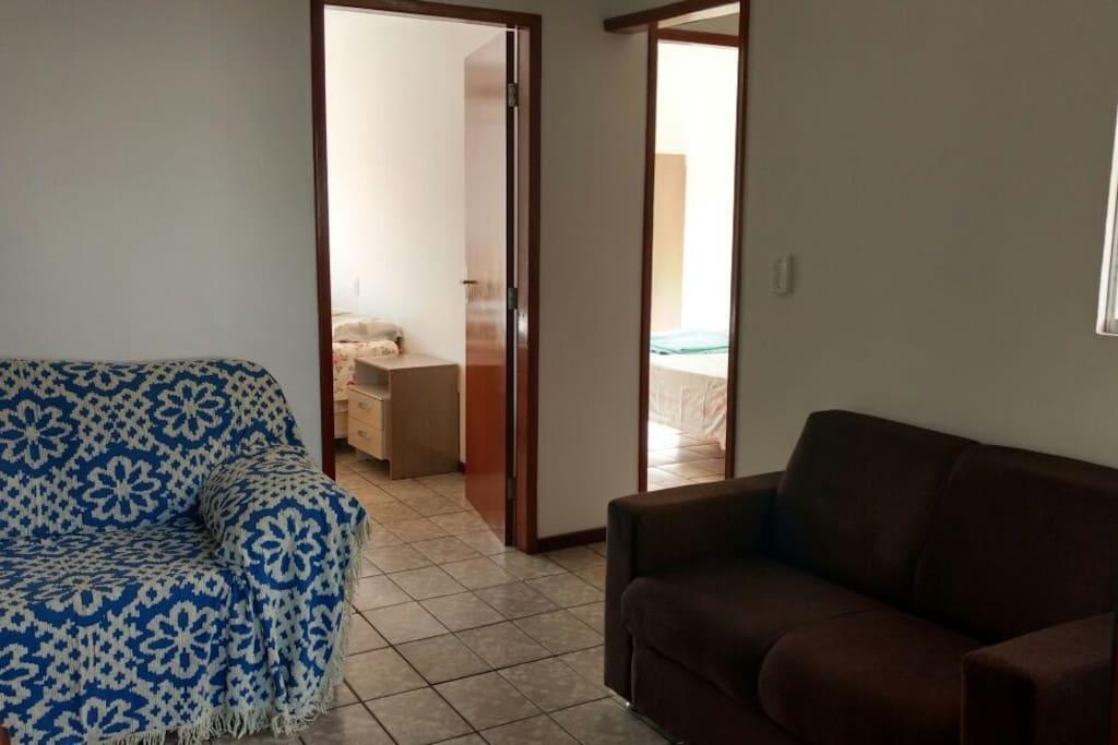 Sala de Estar com acesso aos quartos