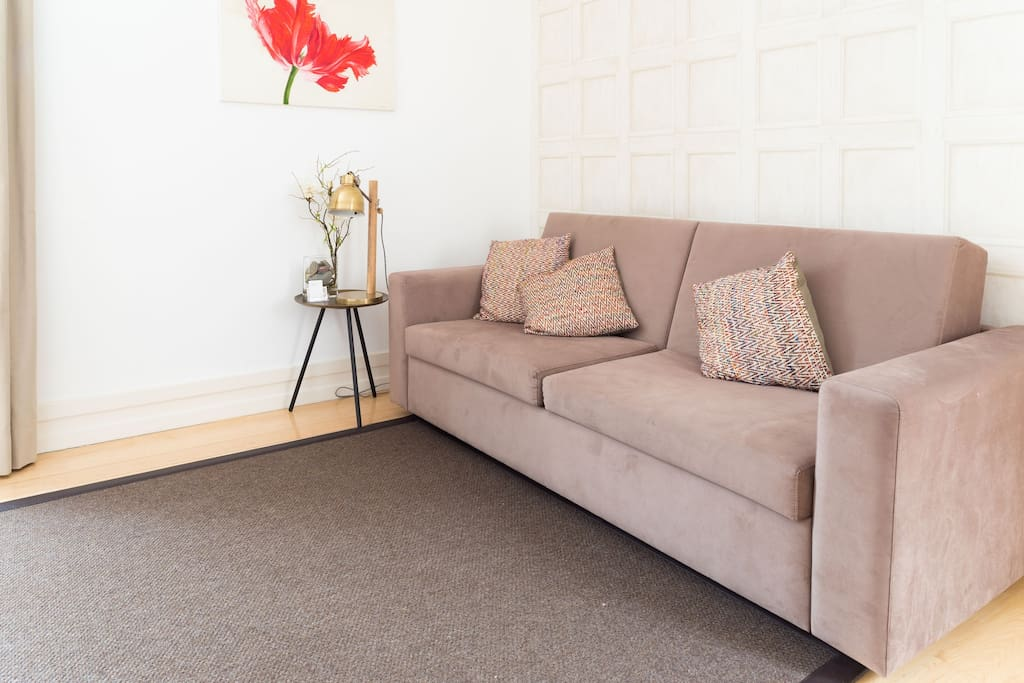 Lounge with comfortable couch