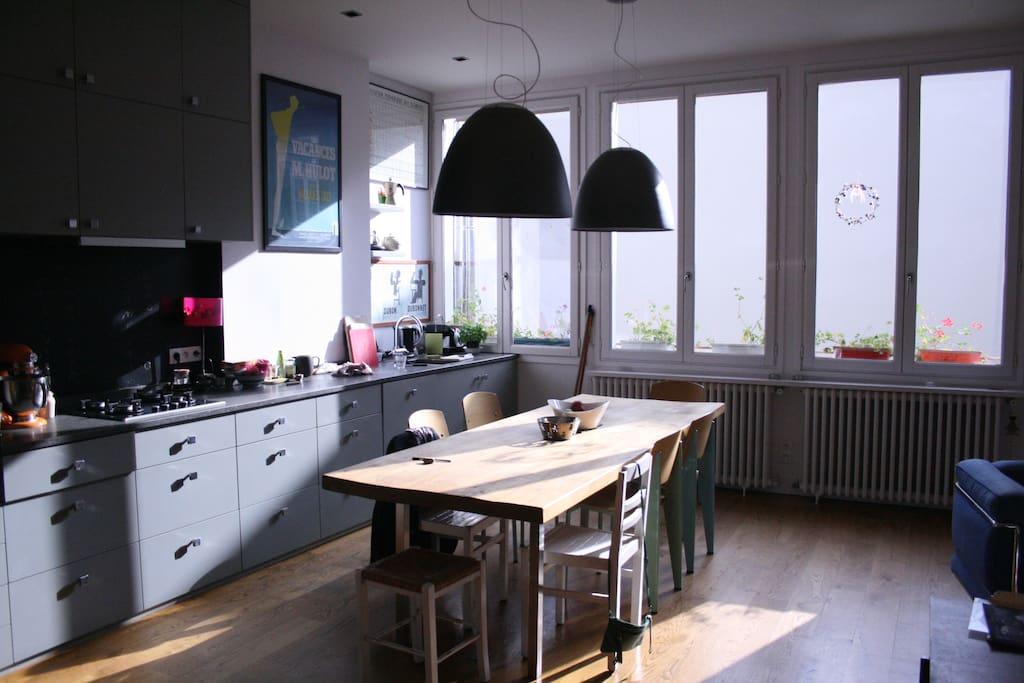 espace cuisine / salle à manger