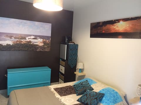 Belle chambre (bleue) accès indépendant