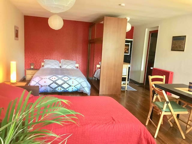 Studio 20 min away from Paris in a family house