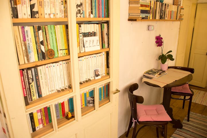 A cozy room in the heart of a historic village