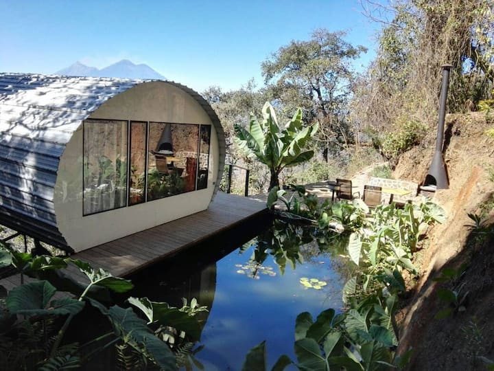 Coi: Unique Tiny Home with Forest & Volcano Views