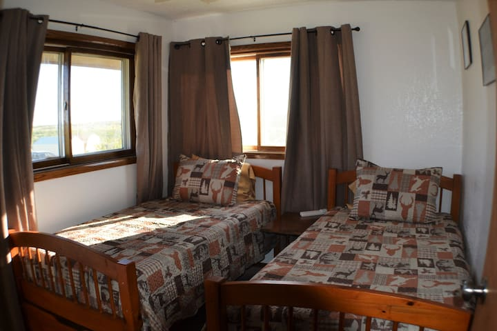 Twin room - this room can be converted to a King bed upon request, with Roku smart TV