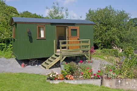 Cosy Shepherds Hut at The Mitre Inn