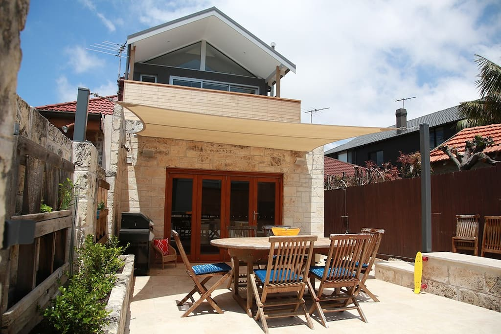 Enjoy a private, sheltered courtyard with dining area, BBQ, and outdoor shower (with hot water!). Perfect for those long summer days and nights