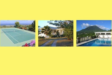 Hill Rise House with staff, pool and tennis court. - 別墅