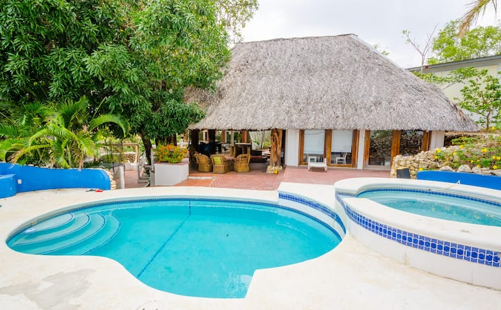 Huge home with direct beach access!