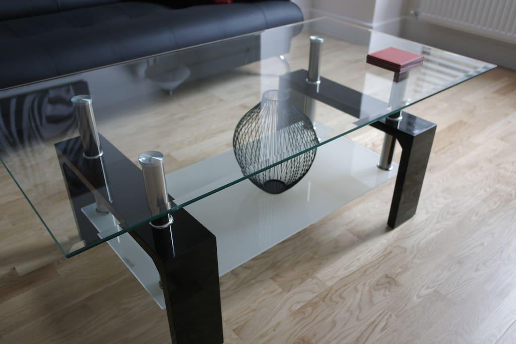 Modern furnishings.