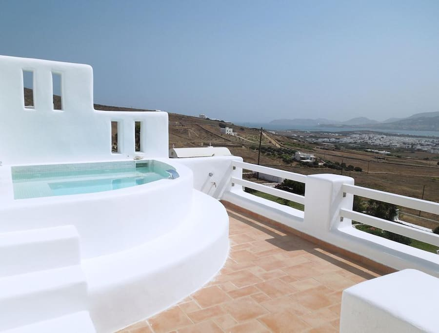 the Jacuzzi on the top terrace