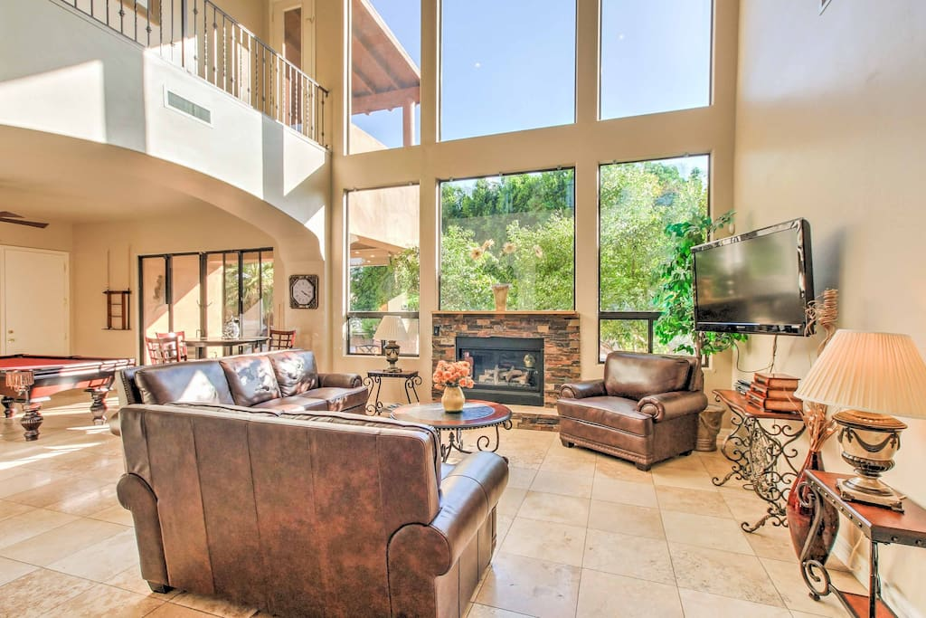 Natural light fills the house on sunny Arizona afternoons.