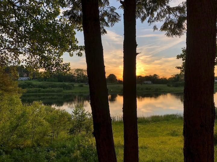 Spacious home on peaceful pond
