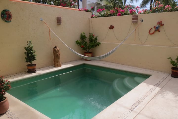 Our private pool is the perfect place to relax. It is also a natural sun trap getting the sun from sunrise to 3pm.